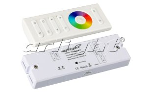 Контроллер Arlight  SR-2839W White (12-24 В,240-480 Вт,RGBW,ПДУ сенсор))