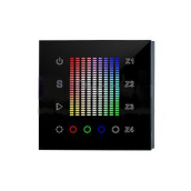 Панель Sens SR-2831AC-RF-IN Black (220V, RGB, 4 зоны)